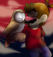 Mario and Owl by raygirl12