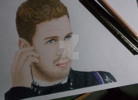 Sebastian Vettel drawing by CanadianSwag97