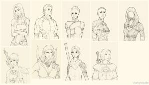 Bioware Ladies by dorkynoodle
