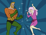 AquaMan and Jem by Campside