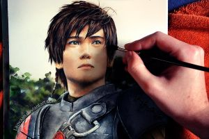 Painting Liui Aquino as Hiccup by Laovaan