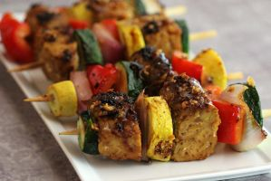 Ginger Tempeh Kebabs by Happivore