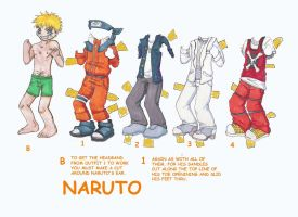 Naruto Paperdoll by narcissusblossom