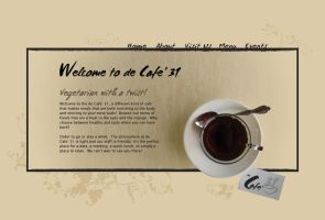 Cafe' 31 Website concept by Mavarius