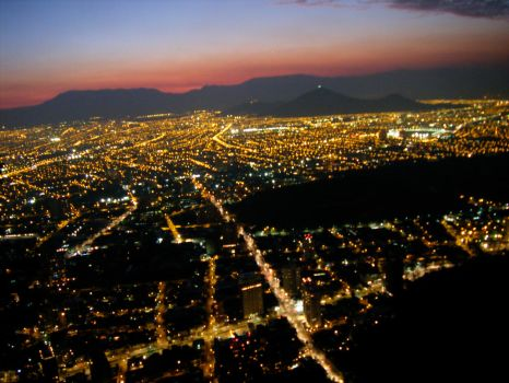 Santiago City in the night by Buenamor