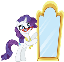 Rarity with a Mirror by birthofthepheonix
