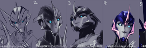 Arcee Sketches by Brandokin-Skyhopper