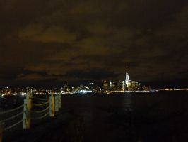 Midtown Manhattan across the Hudson by Greysounds