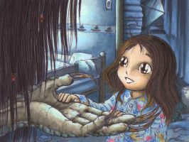 The little Girl and the Secret by Ganjamira