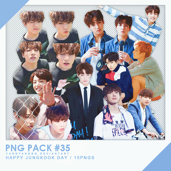 PNG PACK#35 -  Happy Jungkook Day 15PNGs - By Yang by Yangyanggg