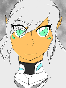 Sierra redesign(Tried to do the Voltron art style) by RiRi-Chan888