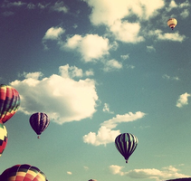 Hot air balloons by toothpastecake