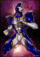 Azure Sirius Ultraman by ChuckWalton