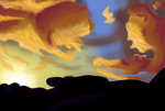 Speed paint challenge - Sky by charlot-sweetie