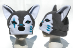 Grey Wolf Hat by clearkid