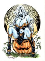 Pumpkin Patch Lady Death by Axebone