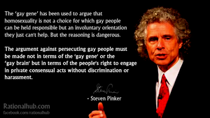 Steven Pinker on the 'Gay Gene'... by rationalhub