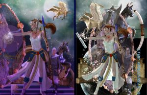 Sky Warriors Before and After by amethystmoonsong