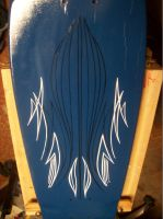 Pin striped Skate Deck by ZigZag69