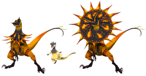 The East Kalosian Black-blaze Heliolisk by blueharuka