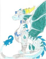 my made up spyro character :D by Ponyness1