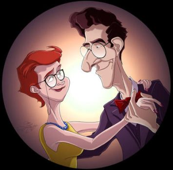The Dance / Egon and Janine by SarahMiele