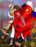 China to Russia by HathorLilith666XX