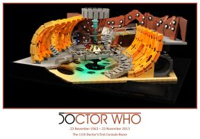 11th Doctor's LEGO Console Room 01 by Xenomurph