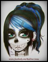 Skull Girl -MakeUp- by RedStar-Sama