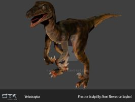 [Practice] Velociraptor Coloured by noei1984