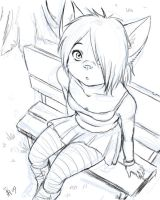 Lillith sitting - sketch by oomizuao