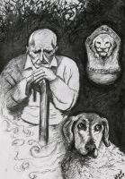 An old man, a dog and... by Verine