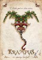 Krampus card 1 by MecaniqueFairy