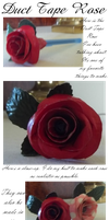 Duct Tape Rose by AquaQueen27