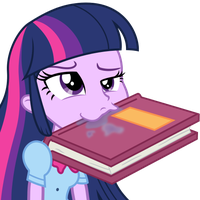Twilight Liek deh Buuhk EQG Emote by Serendipony