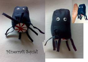 Minecraft squid plush- For SOLD by LyricaBelachium