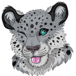 Snow leopard  headshot by Osayioniwabo