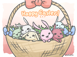 Happy Easter with B.A.P by LadyRawr