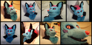 Sparkle Fox Head - Sold by CuriousCreatures