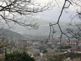 Conwy through the trees by MakinMagic