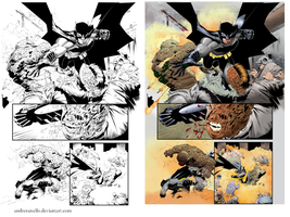 Coloring - Batman - Sequential art. Side-by-side by andreranulfo