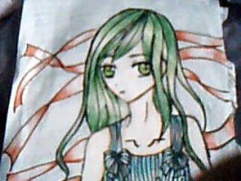 RANDOM GREEN HAIRED GIRL... by iluvdogs101