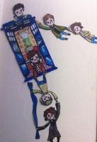 SuperWhoLock Paperart by YerABloggerJohn