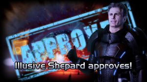 Mass Effect 2: Illusive Shepard approves! by StMalKavian