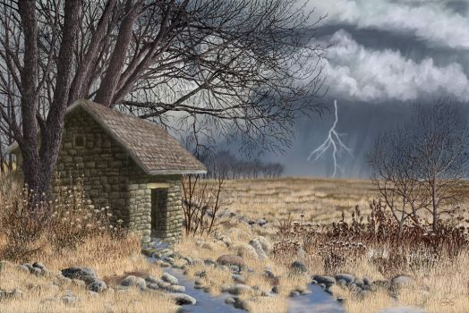 Forgotten Springhouse by Brightstone