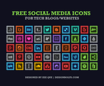 50 Free Social Media Icons for Tech Blogs by Designbolts