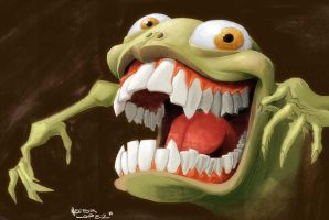 crazy green thing by heckthor