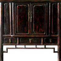 Dark wood chinese cupboard by LilipilySpirit
