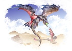 Sand Wyvern by Dragolisco