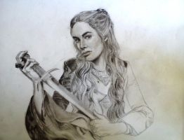 Game of Thrones: Cersei Lannister (WIP) by erikhart